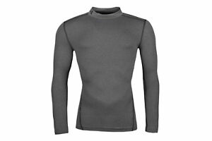 Under Armour Mens ColdGear Compression Long Sleeve Mock Top Grey