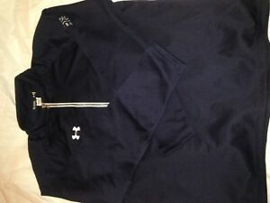New Under Armour Team Scout II 14 Zip Loose Fit Top Shirt 1236923 Navy size XL