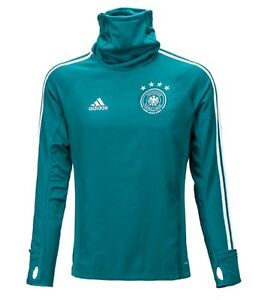 Adidas Men DFB Germany Training LS T-Shirts Soccer Green Tee Jersey CE6574