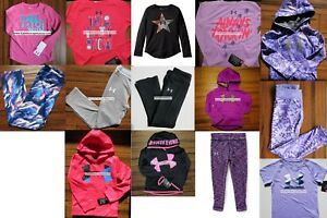 HUGE LOT GIRLS SIZE 5 UNDER ARMOUR ~ 14pc ~ HOODIE SWEATSHIRT ~ LEGGINGS $432