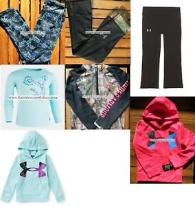 UNDER ARMOUR GIRLS 6 ~ LEGGINGS ~ HOODIE SWEATSHIRTS ~ TOPS 7PC NEW $232