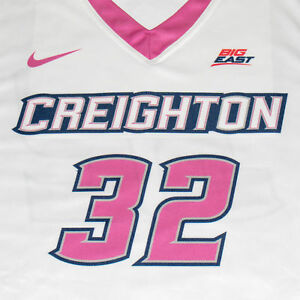 Creighton Basketball Jersey #32 with custom-lettered warm up shirt worn during