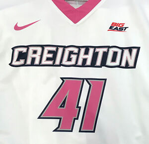 Creighton Basketball Jersey #41 with custom-lettered warm up shirt worn during