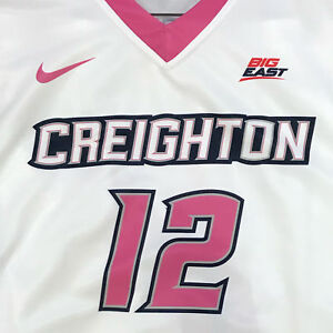 Creighton Basketball Jersey #12 with custom-lettered warm up shirt worn during