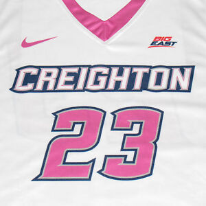 Creighton Basketball Jersey #23 with custom-lettered warm up shirt worn during