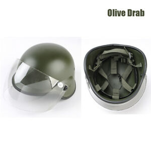 Outdoor Airsoft Tactical Paintball PASGT Kelver M88 Helmet with Clear Visor OD