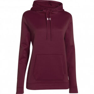 Under Armour Women's Storm Fleece Hoodie XLT ColdGear Long Sleeve Wine NEW NWT
