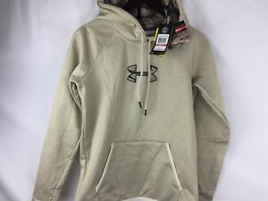 Under Armour Womens Storm Caliber Hoodie 1286058 Size Large Oatmeal Camo $65