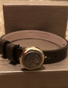 Bulgari Leather Bracelet Monete Women's