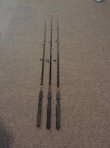 LoT of 3 SHAKESPEARE UGLY STIK SPINNING RODs MEDIUM ACTION 7' and 6'