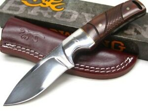 Browning 3220229 Straight Cocobolo Stainless Fixed Blade Hunting Knife  Sheath