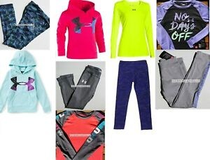 UNDER ARMOUR GIRLS 6X ~ LEGGINGS ~ HOODIE SWEATSHIRTS ~ TOPS 9PC NEW $295