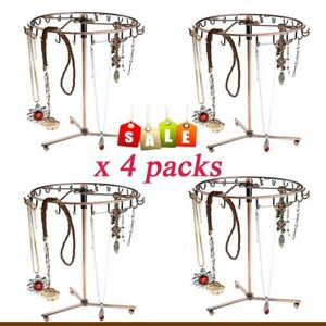 4PCS Jewelry Bracelet Necklace Rings Display Stand Jewelry Tree Holder Rotating