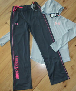 Under Armour 14 zip hoodie shirt & pants set NWTNWOT girls' L YLG graypink