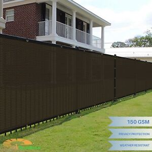4'x50' Brown Windscreen Privacy Fence Shade Cover Mesh Outdoor Lawn Construction