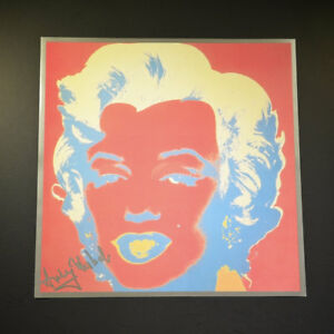 "Andy Warhol ""Marilyn Monroe"" from a 1982 VIP Catalog.  Red-Red-Silver. SIgned."