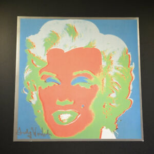 "Andy Warhol ""Marilyn Monroe"" from a 1982 VIP Catalog.  Hand Signed w COA."