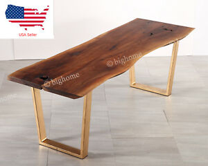 87quot;X 31#x27;#x27; Living Room Modern Furniture Table Walnut Wood Rectangle Coffee Table $1399.00