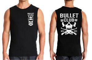 Double Sided Bullet Club Wrestling Gym Work Out Training muscle tank top S-3X