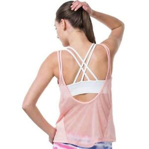 Sexy Fitness Women Shirt Breathabl Mesh Fitness Gym Tank Top Running Quick Dry