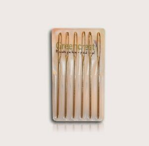 6 Pc Hand Sewing Large Eye Blunt Needles Wool Thick Knitter Yarn or Darning GBP 2.29
