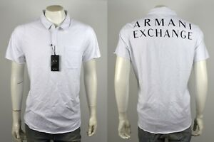 Armani Exchange AX Men's Cotton Logo Polo ShirtTop - 3YZF80-ZN21Z