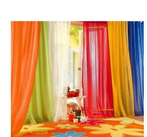 Elegant Solid Sheer Panel Window Curtain All sizes All colors 1 Panel