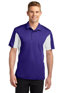 12 Custom Logo Embroidered Side Color Blocked Micropique Sport-Wick® Polo Shirt