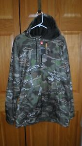 Under Armour COLDGEAR  Forest Camo Storm LOOSE FIT XLT  Hoodie $80 ~ NEW