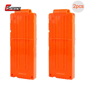 2X 12 Reload Clip Magazine Bullets MAG Round Darts Replacement for Nerf Toy Gun