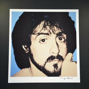 """Andy Warhol """"Sylvester Stallone"""".  Hand signed by Andy Warhol with COA."""