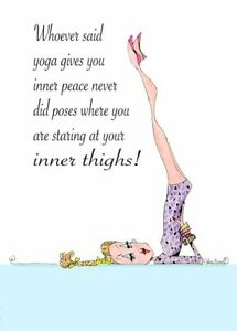 Funny Yoga Pose Woman Birthday Card Vanity Cases by Collene kennedy