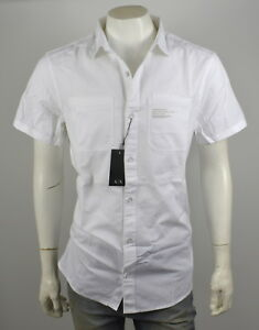 Armani Exchange AX Men's Utility Slim Button Down ShirtTop - 3YZC32-ZNY5Z