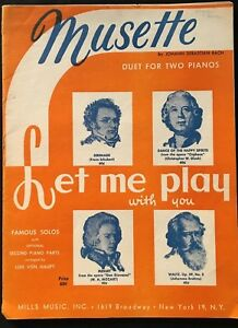 Two Piano Four Hands Duets Musette by J. S. Bach $15.00
