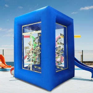 9ft Inflatable Cash Cube Money Machine Advertising Promotion with Blowers