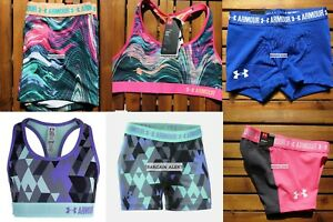 UNDER ARMOUR YOUTH XL~ FITTED SHORTS ~ SPORTS BRAS ~ PURPLE BLACK GRAY $150
