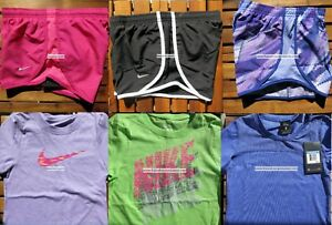 GIRLS NIKE ~ SIZE SMALL ~ NIKE TEMPO RUNNING SHORTS ~ T-SHIRTS ~ 6pc ~ $157 NEW