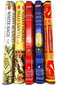 Smudge Sampler Incense Sticks by Hem for Smudging Aromatherapy Yoga Meditation
