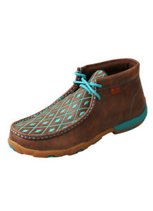 Women's Driving Moccasins – BrownTurquoise WDM0072