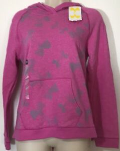 NWT Under Armour YLG (14-16) Girl's Small Woman Pink Hoodie Allseasoned Gear