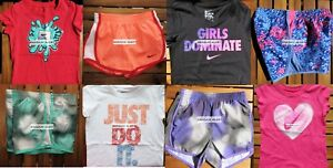 NIKE GIRLS SIZE 6X ~ TEMPO RUNNING SHORTS ~ T-SHIRTS ~ 8PC ~ NWT ~