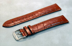 NEW Genuine Longines 21mm Brown Leather Men's Watch Bracelet Strap L-31084922