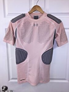 Pink UNDER ARMOUR 5-Pad Football Heat Gear MPZ Compression SHIRT Women's Large