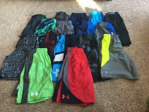 Boys UNDER ARMOUR Athletic Shorts Youth Large YMD 16 Pairs EUC