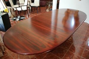 EXOTIC AND BEAUTIFUL SOLID ROSEWOOD TABLE AND DINETTE WITH MATCHING CHAIRS!