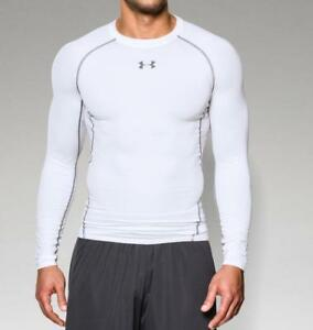 Under Armour Men's HeatGear Armour Long Sleeve Compression Shirt 1257471 White