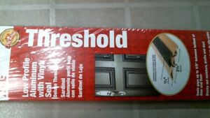 ACE 5409107 Threshold 36quot; Low Profile Aluminum with Vinyl Seal FREE SHIPPING