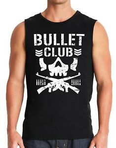 Bullet Club Wrestling Gym Work Out Mussel Tank top  S-3X