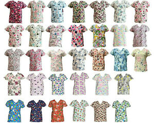 365 Work amp; Wear Women#x27;s Fashion Medical Nursing Scrub Tops