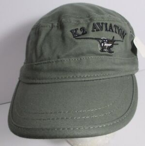 K2 Aviation Colorado & Alaska Hat Cap Cadet Style Flat Top USA Embroidery New